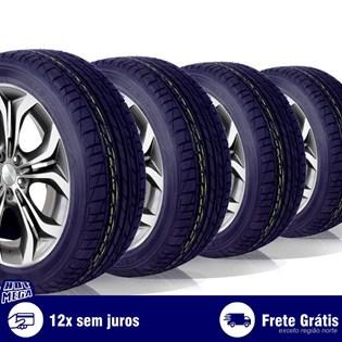 kit 4 pneu remold 195/55r15 ck704 cockstone (desenho dunlop)