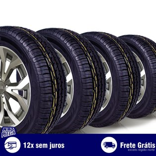 kit 4 pneu remold 195/60r16 ck603 cockstone (desenho goodyear)