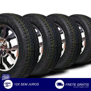 kit 4 pneu remold 195/65r15 strong (desenho bridgestone)