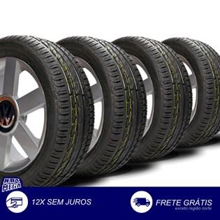 kit 4 pneu remold 205/55r16 strong (desenho Goodyear)
