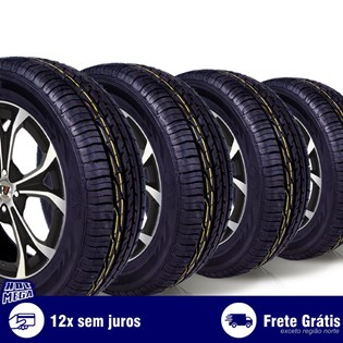 kit 4 pneu remold 205/65r15 ck603 cockstone (desenho goodyear)