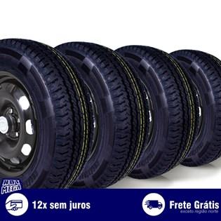 kit 4 pneu remold 205/70r15 carga 8 lonas cockstone (desenho pirelli)