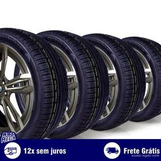 kit 4 pneu remold 215/45r17 ck360 cockstone (desenho kumho)