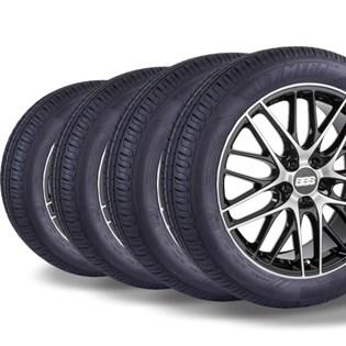 kit 4 pneu remold aro 14 175/65r14 HOT MEGA desenho pirelli