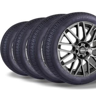 kit 4 pneu remold aro 14 185/70r14 HOT MEGA desenho pirelli