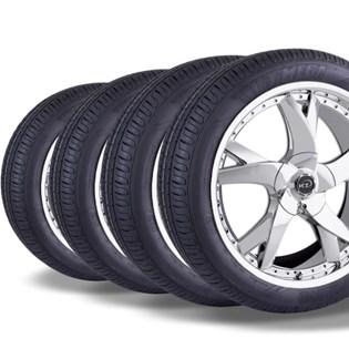 kit 4 pneu remold aro 15 185/60r15 HOT MEGA desenho pirelli