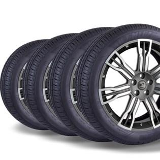 kit 4 pneu remold aro 16 205/55r16 HOT MEGA desenho pirelli
