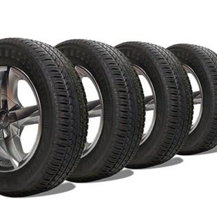 kit 4 pneu remoldado aro 14 175/70r14 strong