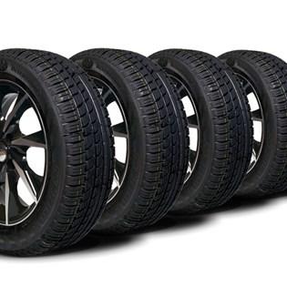 kit 4 pneu remoldado aro 15 195/60r15 strong