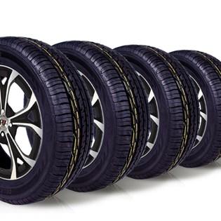 kit 4 pneu remoldado aro 15 205/65r15 ck603 cockstone