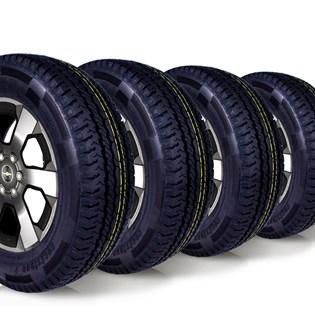 kit 4 pneu remoldado aro 16 205/75r16 carga 8 lonas cockstone